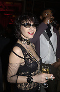 Martine Boutron. Yves St. Laurent. last couture collection, 1962-2002. Pompidou Centre. Paris. 22 January 2002. © Copyright Photograph by Dafydd Jones 66 Stockwell Park Rd. London SW9 0DA Tel 020 7733 0108 www.dafjones.com