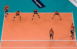 Dejan Vincic, Vid Jakopin, Daniel Lewis, Alen Pajenk, Andej Flajs and Alen Sket of ACH at  match for 3rd place of CEV Indesit Champions League FINAL FOUR tournament between PGE Skra Belchatow, POL and ACH Volley Bled, SLO on May 2, 2010, at Arena Atlas, Lodz, Poland. Belchatow defeated ACH 3-1. (Photo by Vid Ponikvar / Sportida)