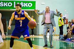 Jaksa Vulic during basketball match between KK Zlatorog and KK Helios Suns in 1st match of Nova KBM Slovenian Champions League Final 2015/16 on May 29, 2016  in Dvorana Zlatorog, Lasko, Slovenia.  Photo by Ziga Zupan / Sportida