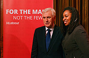 London, United Kingdom - 9 March 2018<br /> Labour Party Shadow Secretary of State for Women and Equalities Dawn Butler introducing Shadow Chancellor John McDonnell who was calling on the government to provide more funding to local councils, children services and domestic violence refuges in a speech at One Great George Street, London, England, UK, Europe.<br /> www.newspics.com/#!/contact<br /> (photo by: EQUINOXFEATURES.COM)<br /> Picture Data:<br /> Photographer: Equinox Features<br /> Copyright: ©2018 Equinox Licensing Ltd. +448700 780000<br /> Contact: Equinox Features<br /> Date Taken: 20180309<br /> Time Taken: 11365094