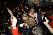 Prinses Maxima en prins Willem-Alexander verrichten woensdag de officiele opening van het 25e Cinekid festival in Amsterdam.n de Gashouder op het Westergasterrein in Amsterdam. <br /> <br /> Princess Maxima and Prince Willem-Alexander opend on Wednesday the 25th festival Cinekid FestivalAmsterdam in the Gasholder on Westergasterrein Amsterdam.<br /> Cinekid organizes annually, during the autumn, the International Film, Television and New Media Festival for Youth. The Amsterdam festival is coming to the children with satellite festivals throughout the Netherlands.<br /> Not only children and their parents benefit from the knowledge and use of Cinekid Foundation. During the festival will also be seminars and a meeting place for Dutch and international media professionals.<br /> During the year Cinekid develop workshops and educational programs for education, libraries, cultural institutions and after school care.
