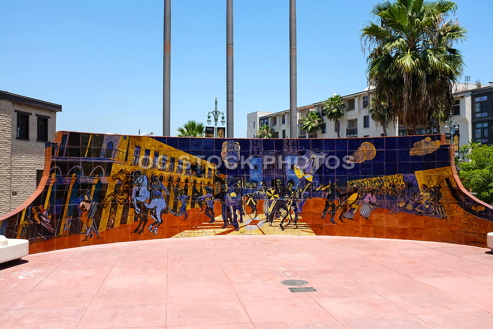 Bell Of Delores Painted Tile Mural By Eduardo Carrillo
