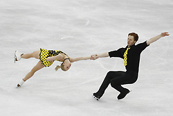 February 15, 2018 - Pyeongchang, KOREA - Evgenia Tarasova and Vladimir Morozov of Olympic Athlete from Russia compete in pairs free skating during the Pyeongchang 2018 Olympic Winter Games at Gangneung Ice Arena. (Credit Image: © David McIntyre via ZUMA Wire)