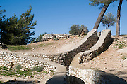 Israel, Jerusalem Jordanian trenches, The Ammunition hill (Hebrew: Giv'at HaTachmoshet) was a military post in Jordanian controlled East Jerusalem, and was the site of one of the toughest battles during the Six Day War on June 6th 1967 now a national memorial site. February 2008
