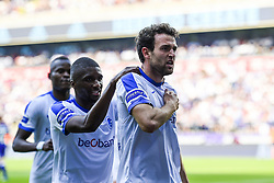 May 20, 2018 - France - Dries Wouters defender of KRC Genk celebrates after scoring the 0-1 during the Jupiler Pro League play off 1 match (Credit Image: © Panoramic via ZUMA Press)