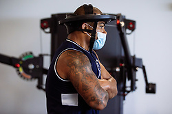 Kyle Sinckler in action in the gym as Bristol Bears start to use their new almost completed Training centre - Rogan/JMP - 08/07/2020 - RUGBY UNION - Beggar Bush Lane - Bristol, England.