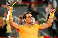 Rafael Nadal of Spain celebrates the victory against Diego Schwartzman of Argentina during the Mutua Madrid Open 2018, tennis match on May 10, 2018 played at Caja Magica in Madrid, Spain - Photo Oscar J Barroso / SpainProSportsImages / DPPI / ProSportsImages / DPPI