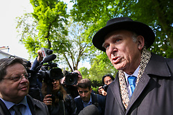 © Licensed to London News Pictures. 10/05/2019. London, UK. Leader of Liberal Democrats, Vince Cable, speaking with media in Camden, north London before the Liberal Democrats European Union election campaign. Britain must hold European Parliament elections on 23rd May 2019 or leave the European Union with no deal on 1st June 2019 after Brexit was delayed until 31st October 2019, as Prime Minister, Theresa May failed to get her Brexit deal approved by Parliament. Photo credit: Dinendra Haria/LNP