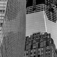 New York, World trade center one tower building under contruction,, World trade center area under reconstruction WTC , New York - United States