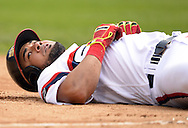 CHICAGO - AUGUST 28:  Melky Cabrera #53 of the Chicago White Sox reacts after safely sliding into third base with a triple in the eighth inning against the Seattle Mariners on August  28, 2016 at U.S. Cellular Field in Chicago, Illinois.  The White Sox defeated the Mariners 4-1.  (Photo by Ron Vesely/MLB Photos via Getty Images)  *** Local Caption *** Melky Cabrera