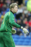Wayne Hennessey of Wales. Wales v Scotland, friendly international football match at the Cardiff City stadium, Cardiff, Wales, UK on Sat 14th Nov 2009.  pic by Andrew Orchard, Andrew Orchard sports photography