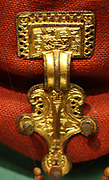 Gold brooch, Anglo Saxon 8th century AD