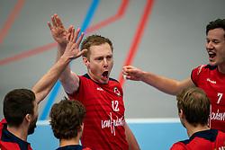 Daan van Haarlem of Taurus celebrate during the league match Taurus - Amysoft Lycurgus on January 16, 2021 in Houten.