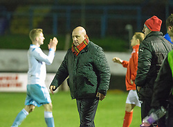 Forfar Athletic's manager Gary Bollan at the end. Cowdenbeath 3 v 4 Forfar Athletic, Scottish Football League Division Two game played 17/12/2016 at Central Park.