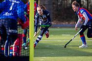 BILTHOVEN -  Hoofdklasse competitiewedstrijd dames, SCHC v hdm, seizoen 2020-2021.<br /> Foto: Imme van Es (hdm) met grote kans op het doel af