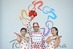 September 9, 2016 - Fengning, China - Meiyin Wang from Wisdom-Hengxiang Cycling Team with the Polka Dot Jersey - The king of the Mountains, after the second stage, 157.8 km Weichang-Fengning, of the 2016 Tour of China 1..The second stage of the Tour of China starts in Yudaokou, in Weichang county, located at the far northeastern Hebei province. The area has been historically home to Manchu soldiers. .The stage finishes in Fengning county, in front of Great Khan palace on north grassland of the country..On Saturday, 9 September 2016, in Fengning, China. (Credit Image: © Artur Widak/NurPhoto via ZUMA Press)