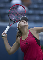 August 30, 2017 - Flushing Meadows, New York, U.S - Evgeniya Rodina during her match on Day Three of the 2017 US Open with Eugenie Bouchard  at the USTA Billie Jean King National Tennis Center on Wednesday August 30, 2017 in the Flushing neighborhood of the Queens borough of New York City. Rodina defeated Bouchard, 7-6(7-2), 6-1. (Credit Image: © Prensa Internacional via ZUMA Wire)