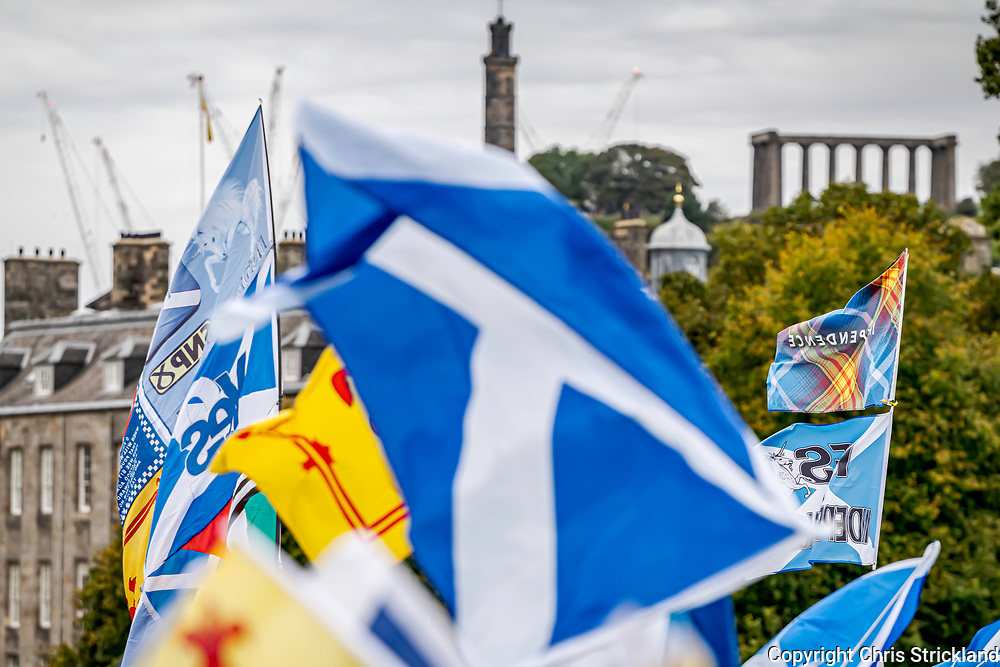 Edinburgh, Lothian, Scotland, UK. 5th October 2019. The All Under One Banner March in favour of Scottish Independence takes place in Edinburgh. Organisers including Joanna Cherry MP QC claimed 200,000  people took part.