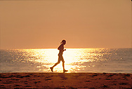 Running on Beach,