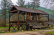 Re-creation of 1848 Sutter's Mill site at Marshall Gold Discovery State Historic Park, near Coloma, El Dorado County,  California
