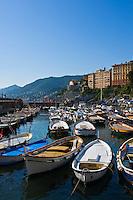 Harbour and colourful architecture, Camogli, Ligura, Italy