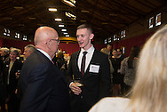 Photos of students interacting with Alumni at a variety of events collected for Graphic Designer Annee Newton