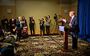 "Republican Presidential candidate Donald Trump, right, debates with Univision reporter Jorge Ramos, left, before Trump's ""Make America Great Again Rally"" at the Grand River Center in Dubuque, Iowa, Tuesday, August 25, 2015. Ramos, an anchor with the Spanish-language Univision network, was removed from Donald Trump's news conference in Dubuque, Iowa, on Tuesday after the Republican presidential candidate said the journalist was asking a question out of turn. Ramos, who later returned to the televised event, was trying to query Trump about immigration when the real estate mogul told him several times to sit down. REUTERS/Ben Brewer"