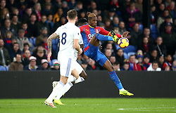 Crystal Palace's Wilfried Zaha in action during the Premier League match at Selhurst Park, London.