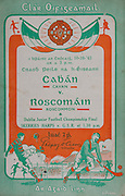 All Ireland Senior Football Final, Cavan 2-02 Roscommon 2-07, 10.10.1943, 10th October 1943, 10101943AISFCF,