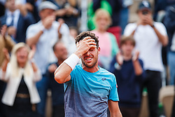 June 5, 2018 - Paris, U.S. - PARIS, FRANCE - JUNE 05: MARCO CECCHINATO (ITA) during day ten match of the 2018 French Open 2018 on June 5, 2018, at Stade Roland-Garros in Paris, France. (Photo by Chaz Niell/Icon Sportswire) (Credit Image: © Chaz Niell/Icon SMI via ZUMA Press)
