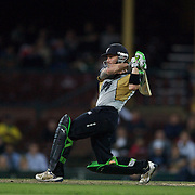 New Zealand batsman Brendon McCullum in action during the Twenty20 International between Australia and New Zealand  at the Sydney Cricket Ground on the 15th February 2009. Australia won the thrilling match by one run. Photo Tim Clayton