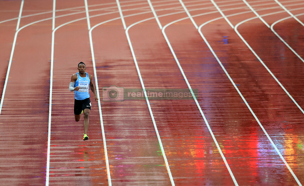 Botswana's Isaac Makwala takes part in an individual time trial in an attempt to qualify for the 200m semi-finals during day six of the 2017 IAAF World Championships at the London Stadium. PRESS ASSOCIATION Photo. Picture date: Wednesday August 9, 2017. See PA story ATHLETICS World. Photo credit should read: Adam Davy/PA Wire. RESTRICTIONS: Editorial use only. No transmission of sound or moving images and no video simulation