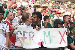 June 17, 2018 - Moscow, Russia - June 17, 2018, Russia, Moscow, FIFA World Cup, First round, Group F, Germany vs Mexico at the Luzhniki stadium. Player of the national team Main coach; trainer; fans; fans; (Credit Image: © Russian Look via ZUMA Wire)