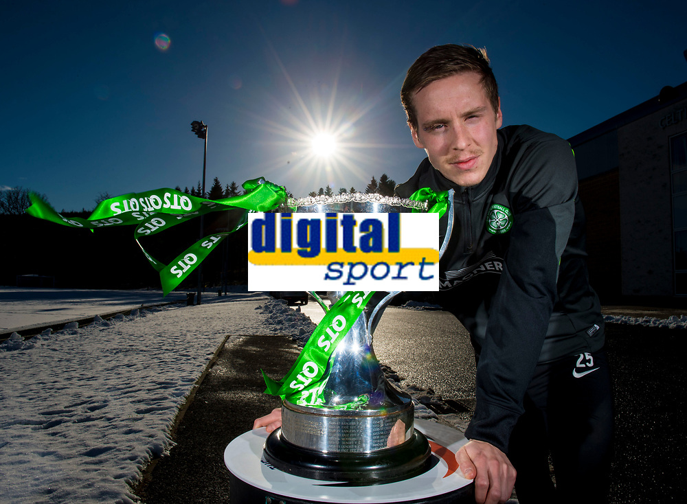 30/01/15<br /> LENNOXTOWN<br /> Celtic's Stefan Johansen looks ahead to his side's upcoming Scottish League Cup Semi-Final old firm clash