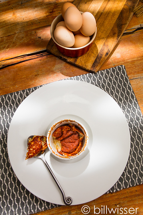 Smoked herring soufflé