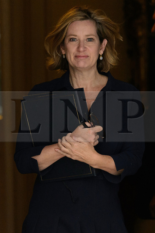 © Licensed to London News Pictures. 21/09/2017. London, UK. Home Secretary AMBER RUDD leaves a cabinet meeting in Downing Street. Photo credit: Ray Tang/LNP