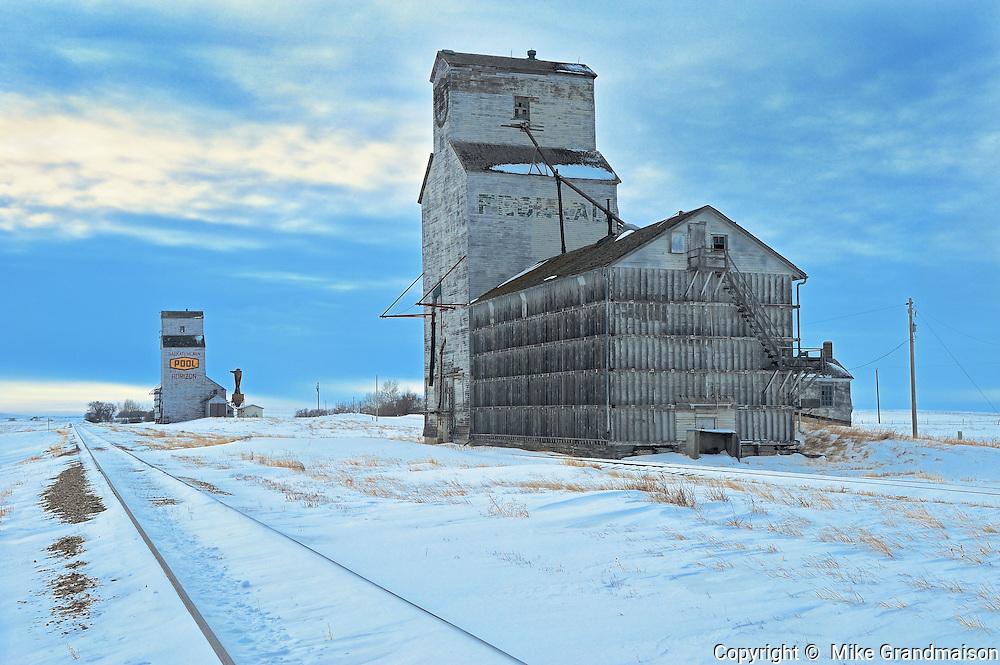 Grain elevators<br /> Horizon<br /> Saskatchewan<br /> Canada