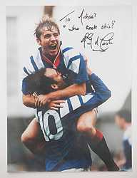 Ally McCoist celebrates with Mark Hateley after scoring at Tannadice. Pictures and pages from the time at Rangers News 1989 to 1993..©Michael Schofield.
