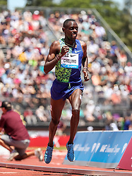 Paul Chelimo, USA, second place in mens 2-Mile at 2019 The Prefontaine Classic Track & Field<br /> IAAF Diamond League