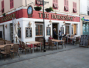 The Horseshoe traditional British pub, Gibraltar, British overseas territory in southern Europe