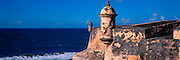 PUERTO RICO, SAN JUAN El Morro fortress watch towers