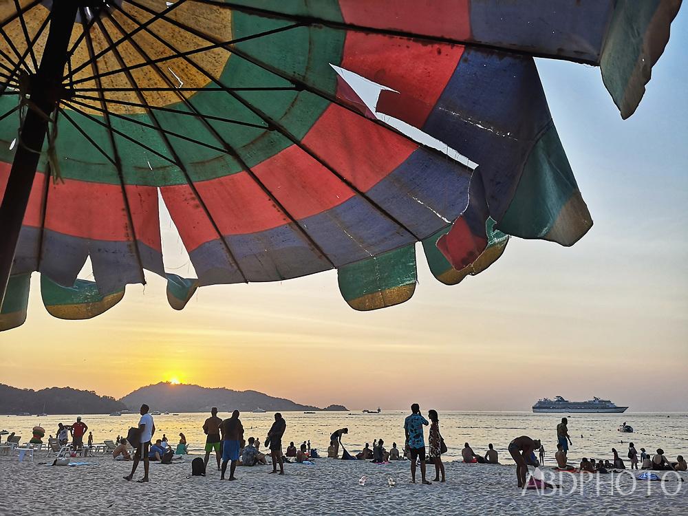 Cruiseship in Patong Bay Phuket Thailand