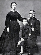 MAJOR ROBERT ANDERSON AND FAMILY from the book ' The Civil war through the camera ' hundreds of vivid photographs actually taken in Civil war times, sixteen reproductions in color of famous war paintings. The new text history by Henry W. Elson. A. complete illustrated history of the Civil war
