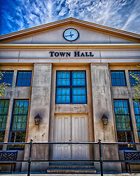 City Hall Building in The New Town in Saint Charles, Missouri.