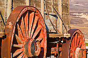 Wagon wheels at the Harmony Borax Works, Death Valley National Park. California
