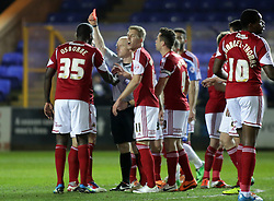 Bristol City's Adam El-Abd is sent off for an off the ball incident - Photo mandatory by-line: Joe Dent/JMP - Mobile: 07966 386802 11/03/2014 - SPORT - FOOTBALL - Peterborough - London Road Stadium - Peterborough United v Bristol City - Sky Bet League One
