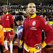 Galatasaray's Wesley Sneijder during their Turkish superleague soccer match Eskisehirspor between Galatasaray at the Eskisehir Ataturk Stadium in Eskisehir Turkey on Saturday, 02 March 2013. Photo by TURKPIX