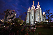 LDS Temple in Salt Lake City.