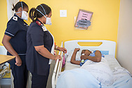 A Parliamentary UNION Caucus visit the female XDR and MDR TB wards during their visit to the Brooklyn Chest Hospital in Cape Town, South Africa.<br /> Photo © Steve Forrest/Workers' Photos