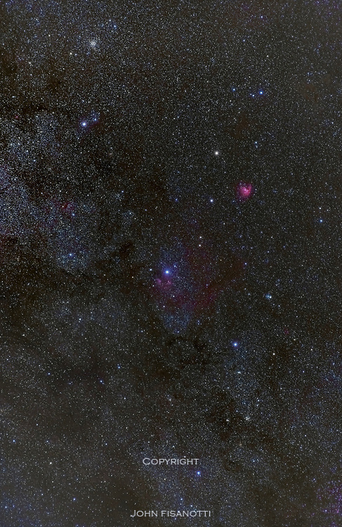 The constellation of Cassiopeia